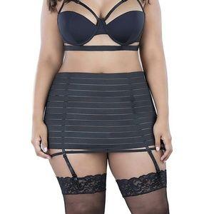 OHLALACHERI Bandage Style Lingerie Skirt